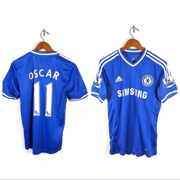 new concept c09bd d2dcd Adidas Chelsea FC #11 OSCAR 13/14 Home Jersey